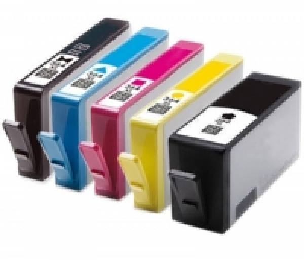 Druckerpatronen Bundle - HP 364 black,photo black,magenta,cyan,yellow XL mit neuem Chip